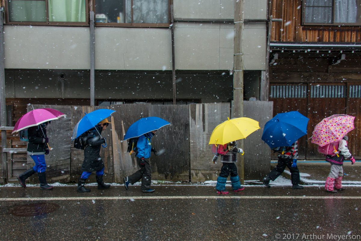 Off to School, Shirakawago