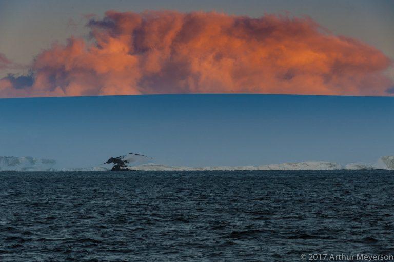 Cloud at Sunset, Antarctica